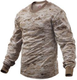 Tričko ROTHCO® dlouhý rukáv digital desert camo