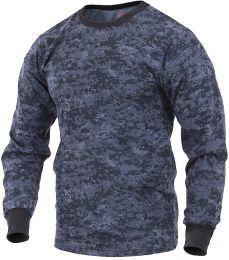 Tričko ROTHCO® dlouhý rukáv digital midnight blue camo