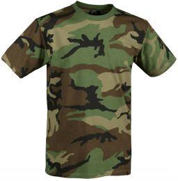 Tričko ARMY woodland camo