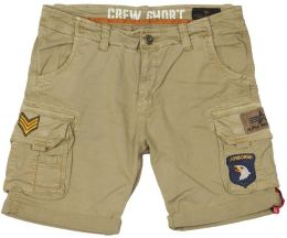 Kraťasy ALPHA INDUSTRIES CREW PATCH sand