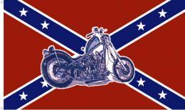 Vlajka REBEL & MOTORBIKE