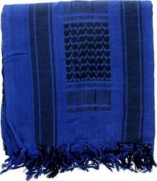 Šátek SHEMAGH tm.modrá & černá