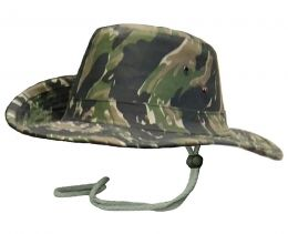 Klobouk BUSH tiger stripe camo