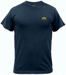 Tričko ALPHA INDUSTRIES BASIC malé logo navy