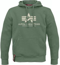 Mikina ALPHA INDUSTRIES BASIC HOODY vintage green