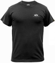 Tričko ALPHA INDUSTRIES BASIC malé logo černá