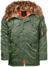 Bunda ALPHA INDUSTRIES N-3B VF 59 sage green