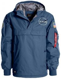 Bunda ALPHA INDUSTRIES NASA ANORAK repl.blue