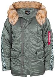Bunda ALPHA INDUSTRIES N-3B AI TAPE vintage green