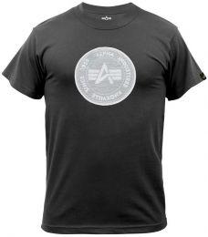 Tričko ALPHA INDUSTRIES HOLOGRAM černá
