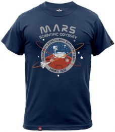 Tričko ALPHA INDUSTRIES MISSION TO MARS repl.blue