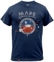 Tričko ALPHA INDUSTRIES MISSION TO MARS repl.blue
