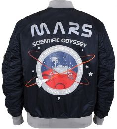 Bunda ALPHA INDUSTRIES MA-1 LW MISSION TO MARS repl.blue