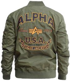 Bunda ALPHA INDUSTRIES MA-1 TT PATCH SF tm.zelená
