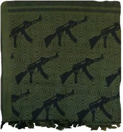 Šátek SHEMAGH oliva & guns