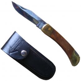 Nůž zavírací COMMANDO s koženým pouzdrem