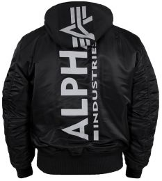 Bunda ALPHA INDUSTRIES ZH Back Print černá & reflective