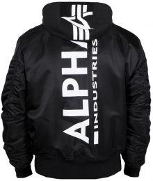 Bunda ALPHA INDUSTRIES MA-1 ZH Back Print černá & bílá