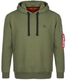 Mikina ALPHA INDUSTRIES X-FIT HOODY tm.zelená