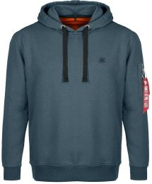 Mikina ALPHA INDUSTRIES X-FIT HOODY repl.blue