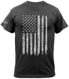 Tričko ROTHCO® DISTRESSED US FLAG černá