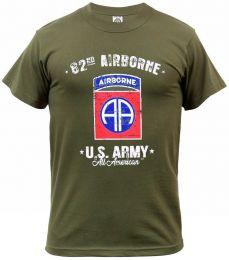 Tričko 82ND AIRBORNE DIVISION zelená