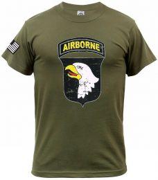 Tričko 101ST AIRBORNE DIVISION zelená