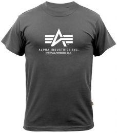 Tričko ALPHA INDUSTRIES BASIC iron grey
