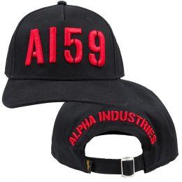 Čepice ALPHA INDUSTRIES 3D CAP černá & červená