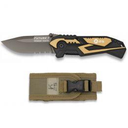 Nůž zavírací K25 19779 FUTURE khaki & černá