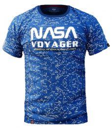 Tričko ALPHA INDUSTRIES NASA VOYAGER AOP nasa blue