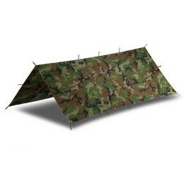 Bivakovací plachta SUPERTARP® 2 x 2,5m US woodland