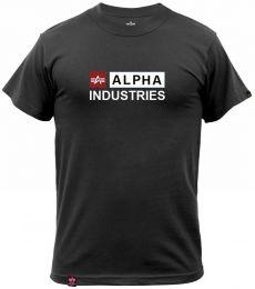 Tričko ALPHA INDUSTRIES ALPHA BLOCK-LOGO černá
