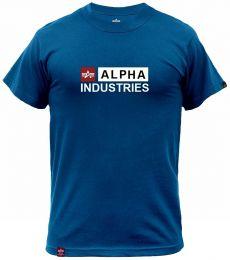 Tričko ALPHA INDUSTRIES ALPHA BLOCK-LOGO naval blue